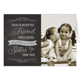 Tarjeta Cumpleaños de la hermana - foto del personalizado