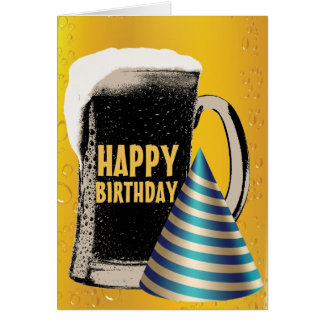 Tarjeta Cumpleaños de la hora feliz de la cerveza feliz