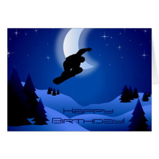 Tarjeta Cumpleaños de la luna de la montaña de la