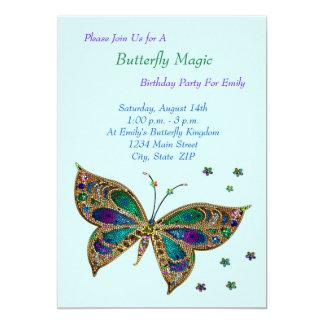 Tarjeta Cumpleaños de la magia de la mariposa