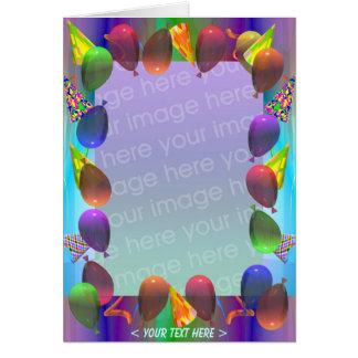 Tarjeta Cumpleaños de la vida del fiesta (marco de la