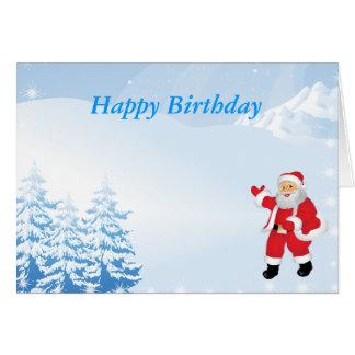 Tarjeta Cumpleaños de las felices Navidad
