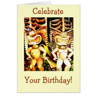 Tarjeta Cumpleaños de Tiki
