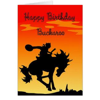 Tarjeta Cumpleaños del Buckaroo
