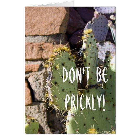 Tarjeta Cumpleaños del cactus del higo chumbo