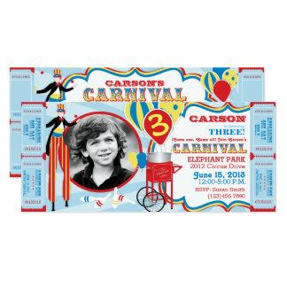 Tarjeta Cumpleaños del caminante del zanco del circo del