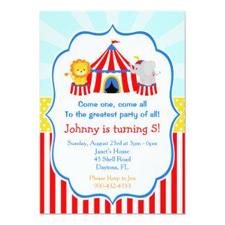 Tarjeta Cumpleaños del carnaval del circo del top grande