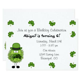 Tarjeta Cumpleaños del día del Leprechaun de St Patrick