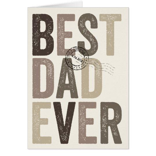 Tarjeta Cumpleaños del día el mejor de padre certificado