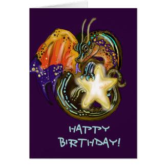 Tarjeta Cumpleaños del dragón del resplandor de la