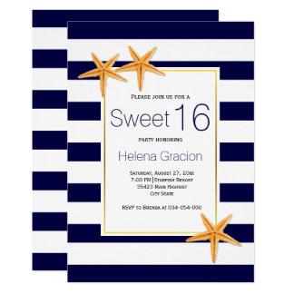 Tarjeta Cumpleaños del dulce dieciséis de las estrellas de