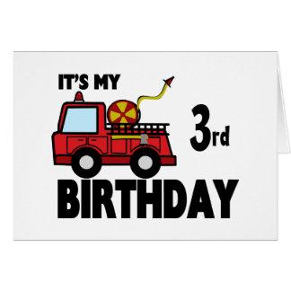 Tarjeta Cumpleaños del FireTruck