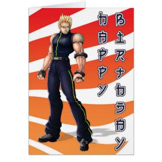 Tarjeta Cumpleaños del héroe de Manga
