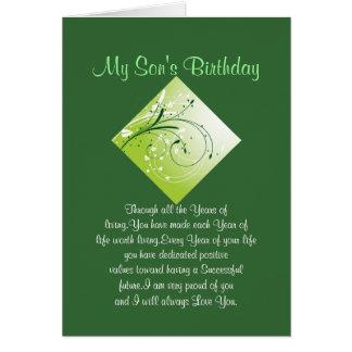 Tarjeta Cumpleaños del hijo