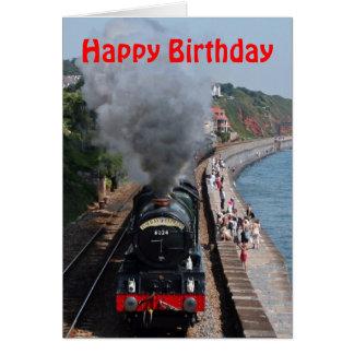 Tarjeta Cumpleaños del motor de vapor de rey Edward 1