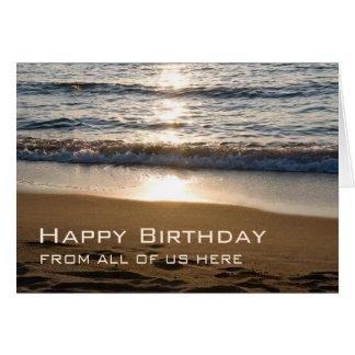 Tarjeta Cumpleaños del negocio de las ondas feliz de la