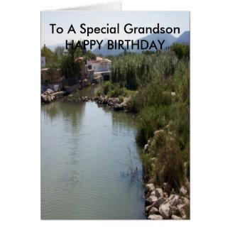 Tarjeta Cumpleaños del nieto del río