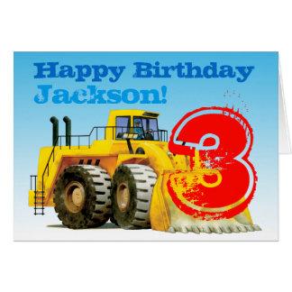 Tarjeta Cumpleaños del personalizado picador amarillo del