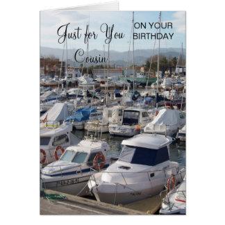 Tarjeta Cumpleaños del primo de los barcos