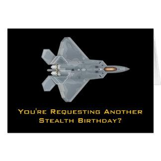Tarjeta Cumpleaños del rapaz F-22