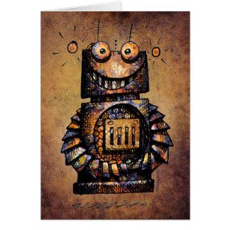 Tarjeta Cumpleaños del robot del niño de encargo lindo y