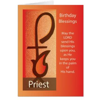 Tarjeta Cumpleaños del sacerdote, personal del pastor y