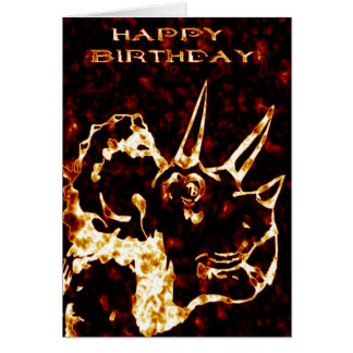 Tarjeta Cumpleaños del Triceratops de Firey