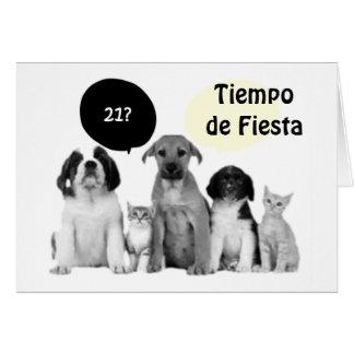 Tarjeta CUMPLEAÑOS del UNO CUMPLEANOS=HAPPY de VIENTE 21ro