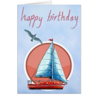 Tarjeta Cumpleaños del velero