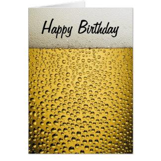 Tarjeta Cumpleaños del vidrio de cerveza feliz