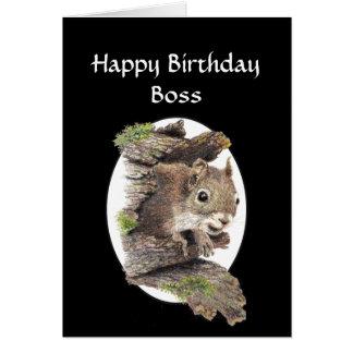 Tarjeta Cumpleaños divertido de Boss, sentido del humor,