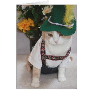 Tarjeta Cumpleaños divertido del alemán del gato