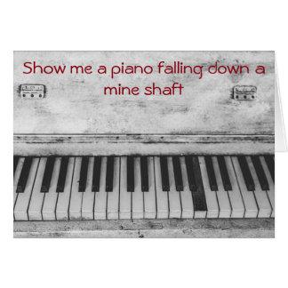 Tarjeta Cumpleaños divertido del chiste del piano