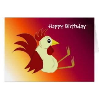 Tarjeta Cumpleaños divertido del gallo