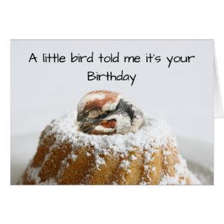 Tarjeta Cumpleaños divertido del pájaro