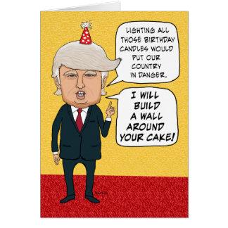 Tarjeta Cumpleaños divertido: Donald Trump construye una