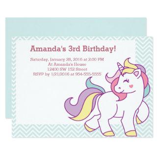 Tarjeta Cumpleaños en colores pastel de los animales del