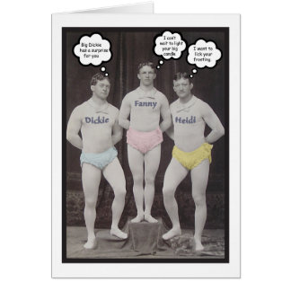 Tarjeta Cumpleaños gay divertido