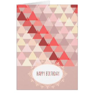 Tarjeta Cumpleaños geométrico en ópalo