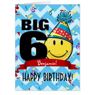 Tarjeta Cumpleaños gigantesco de la marca de la década