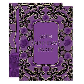 Tarjeta Cumpleaños gótico color de rosa y del damasco