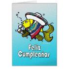 Tarjeta Cumpleaños mexicano del español de los pescados de