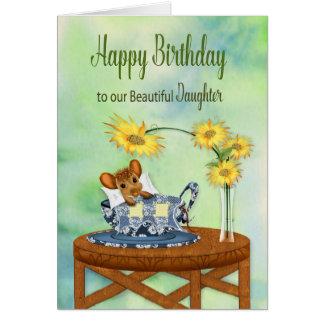 Tarjeta Cumpleaños - nuestra hija - ratón en la