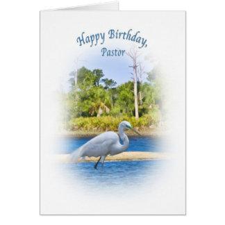 Tarjeta Cumpleaños, pastor, gran Egret