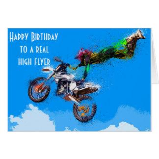 Tarjeta Cumpleaños que compite con de la motocicleta del