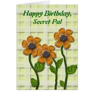 Tarjeta Cumpleaños secreto florido de PAL