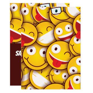 Tarjeta Cumpleaños sonriente lindo del Emoticon de Kawaii