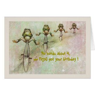 Tarjeta Cumpleaños tardío de la rana