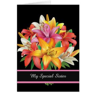 Tarjeta Cumpleaños Tarjeta-Mi hermana especial
