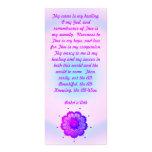 Tarjeta curativa del estante del rezo de Baha'i Lona